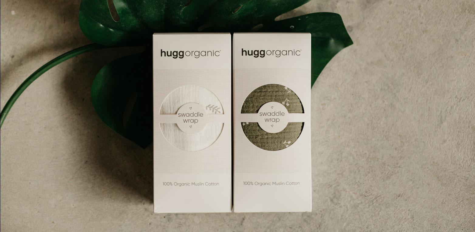 Hugg Organic Muslin Swaddle Blankets